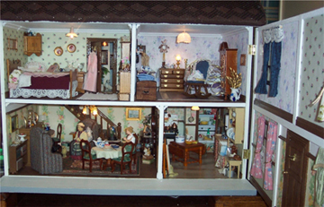 Interior of doll's house