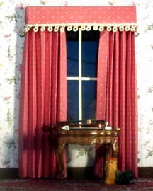 High Quality Burgundy Paper Curtains